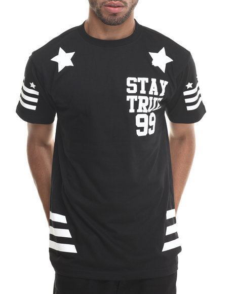 Buyers Picks - Men Black Stay True S/S Tee