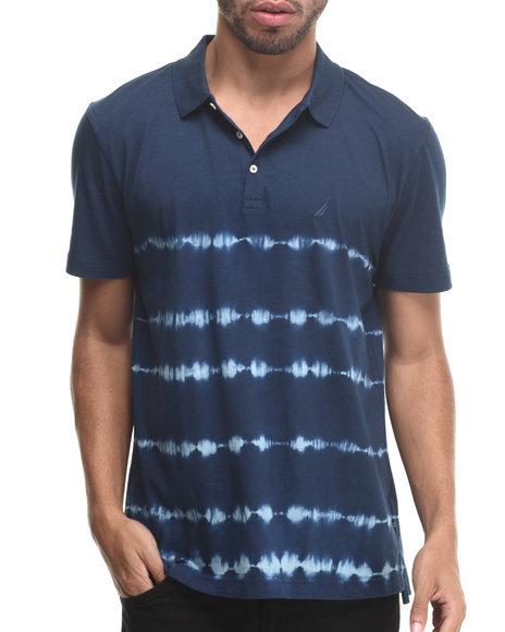 Nautica - Men Navy Tie Dye Stripe Polo