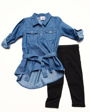 Girls - DENIM TUNIC & LEGGINGS SET (2T-4T)