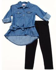 Sizes 4-6x - Kids - DENIM TUNIC & LEGGINGS SET (4-6X)
