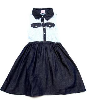 Dollhouse - LACE & CHAMBRAY DRESS (7-16)