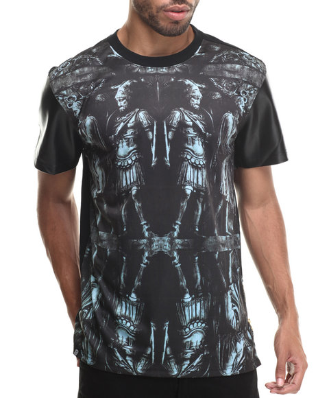 Buyers Picks - We go to War Sublimation/faux leather S/S Tee