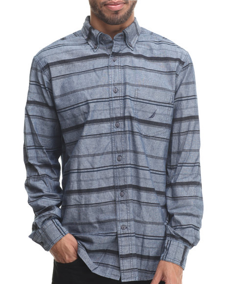 Nautica - Men Black Chambary L/S Button-Down