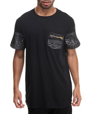 Men - True Colors 2 Bandana Print w/ Mesh Sleeve detail S/S Tee