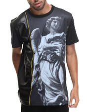 Men - Gods Be Callin Sublimation/faux leather S/S Tee