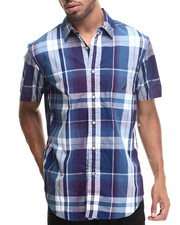Men - Poplin Large Plaid S/S Button-Down