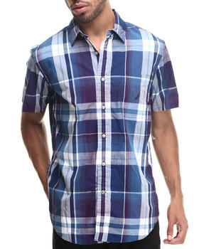 Nautica - Poplin Large Plaid S/S Button-Down