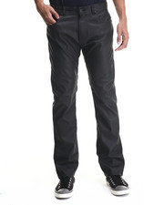 Men - Full Faux Leather Slim/Straight Fit pants