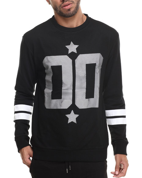 Buyers Picks - Men Black Athletic Mesh Detail Sweatshirt
