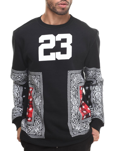 Buyers Picks - Men Black Bandana 23 Crewneck Sweatshirt