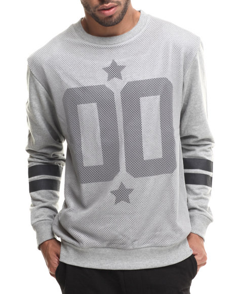 Buyers Picks - Men Grey Athletic Mesh Detail Sweatshirt