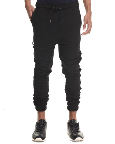 Buyers Picks - Men Black Classic Fit French Terry Jogger Pants