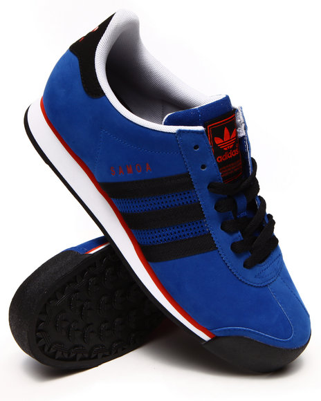 Adidas - Men Blue Samoa Nubuck Sneakers - $61.99