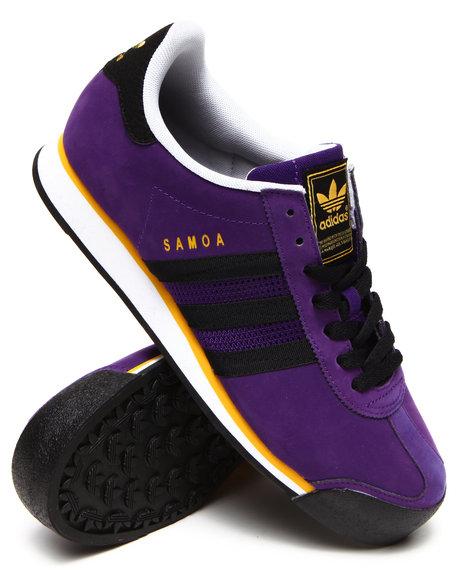 Adidas - Men Purple Samoa Nubuck Sneakers - $65.00