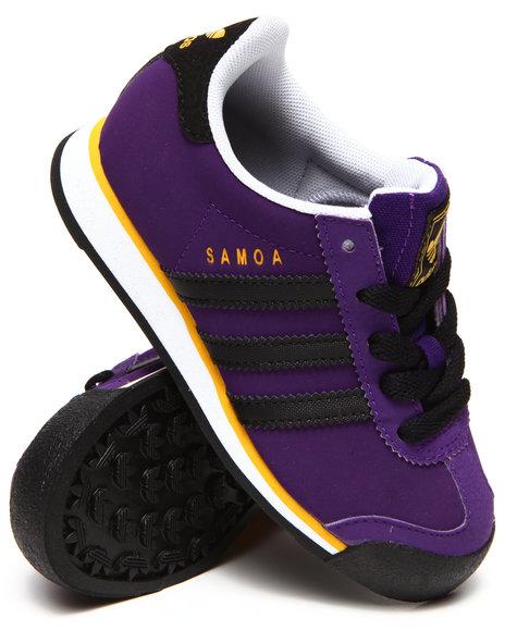 Adidas - Boys Purple L.A. Lakers Samoa C Sneakers (11-3)