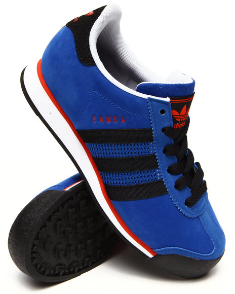 Adidas - Boys Blue New York Knicks Samoa J Sneakers (3.5-7) - $40.99