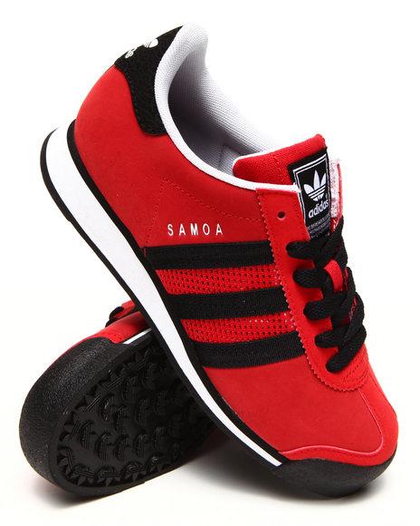 Adidas - Boys Red Chicago Bulls Samoa J Sneakers (3.5-7)