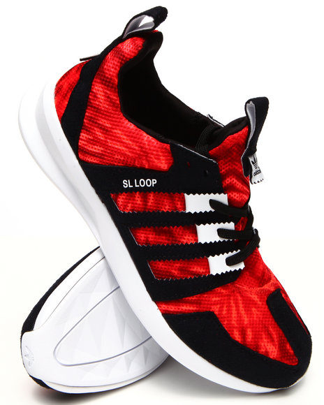 Adidas - Men Red Sl Loop Runner Sneakers - $75.00