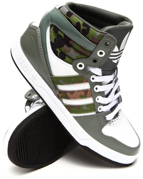 Adidas - Women Camo,Green Court Attitude Sneakers