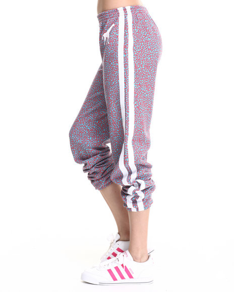 Lrg - Women Red True Grit French Terry Printed Pants