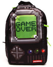 Men - Pixel Game Over Black Backpack