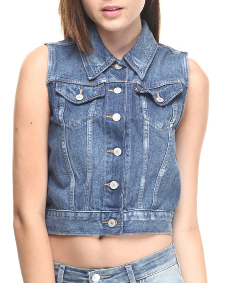 Levi's - Women Blue Levi's Authentic Vest