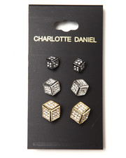 Jewelry & Watches - 3-Size Card Set Cube Earrings