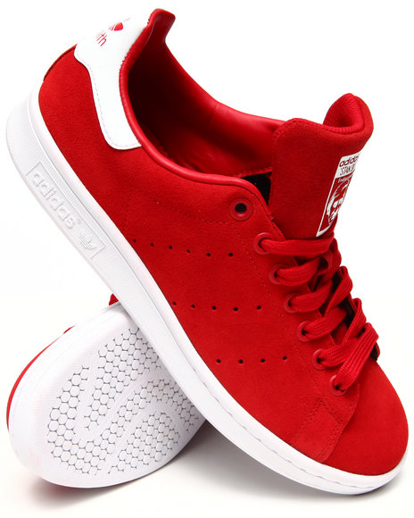Adidas - Men Red Stan Smith Sneakers
