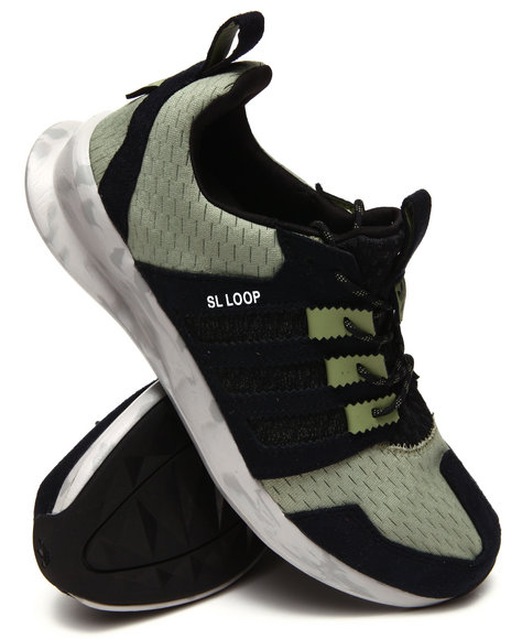 Adidas - Men Green Sl Loop Runner Sneakers
