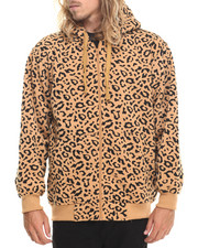 Basic Essentials - Leopard Print Fleece Hoodie