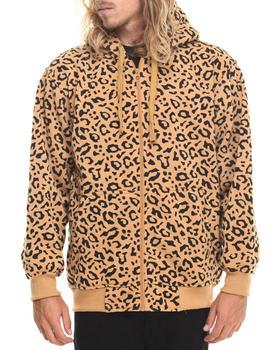 Basic Essentials - Leopard Print Fleece Hoodie