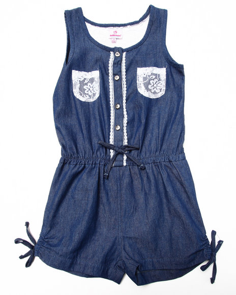 Dollhouse Medium Wash Rompers