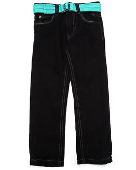 Enyce - BELTED JEANS W/ FAUX LEATHER TRIM (4-7)