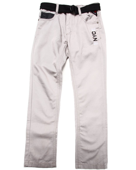 Enyce - Boys Grey Belted Jeans W/ Faux Leather Trim (8-20)