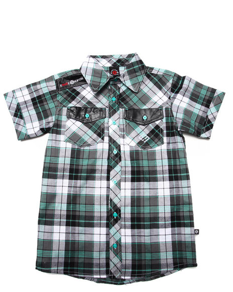 Enyce Teal Button-Downs