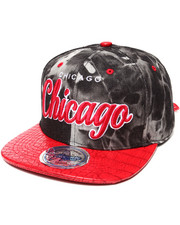 Men - Chicago Bulls Tie Die/3D Faux Croc Strapback Hat