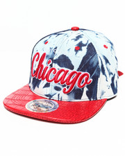 Hats - Chicago Tie Dye & Faux Leather Croc Strapback Hat