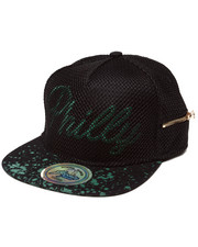 Hats - Philadelphia 3D Embroidery Mesh Over Snapback Hat (Side Zip Stash Pocket detail)