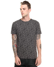 Short-Sleeve - Groved Cubic Pattern Tee
