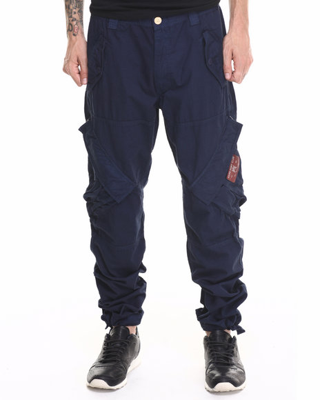Akoo - Men Navy Harvest Cargo Pants
