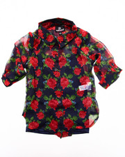 Girls - FLORAL CHIFFON TOP (4-6X)