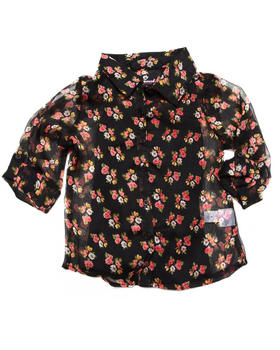 Dollhouse - FLORAL CHIFFON TOP (4-6X)
