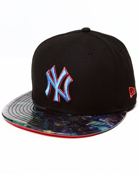 New Era - Men Black New York Yankees Galaxy Glazer 5950 Fitted Hat