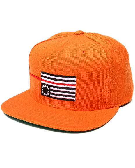 Blvck Scvle Men Red Rebel Flag Snapback Cap Orange