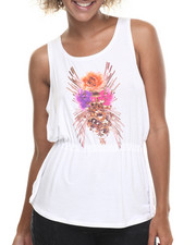 Baby Phat - Criss Cross Back Floral Print Top