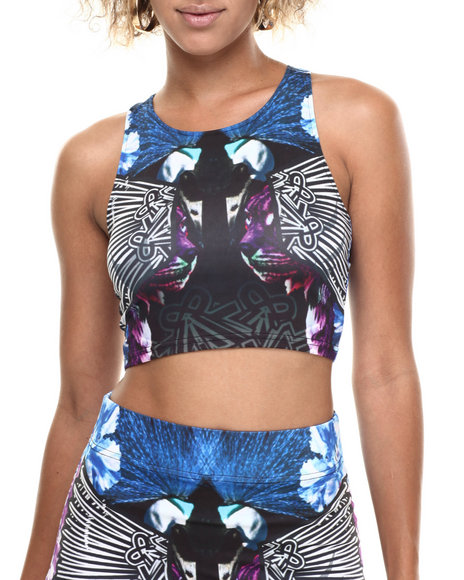 Baby Phat - Women Multi Peacock Print Top