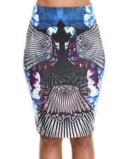 Bottoms - Peacock Print Skirt