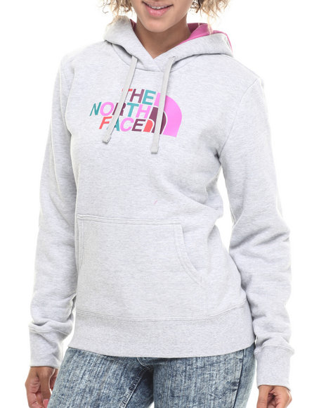 The North Face - Women Grey Half Dome Hoodie