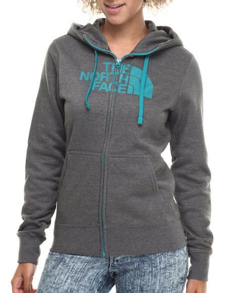 The North Face - Women Charcoal Half Dome Full Zip Hoodie