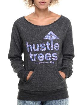 Luxirie by LRG - Hustle Trees Raw Crewneck Sweatshirt